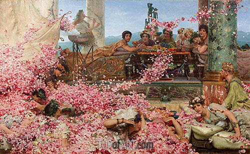 The Roses of Heliogabalus, 1888 | Alma-Tadema| Gemälde Reproduktion