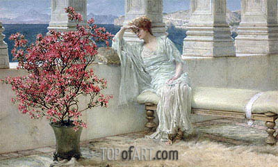 Her Eyes are with Her Thoughts and They are Far Away, 1897 | Alma-Tadema| Painting Reproduction