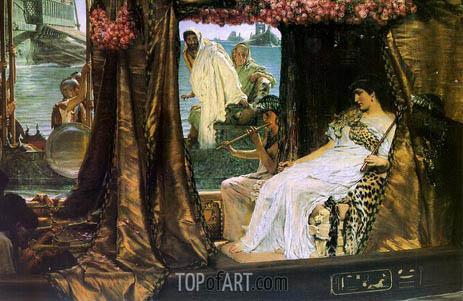 Antony and Cleopatra, 1883 | Alma-Tadema | Painting Reproduction