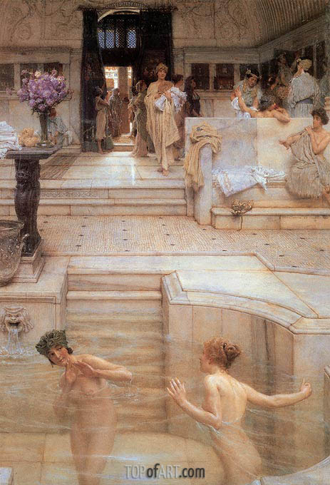 A Favourite Custom, 1909 | Alma-Tadema| Painting Reproduction
