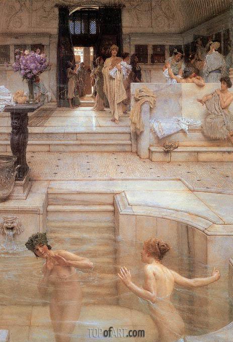 Alma-Tadema | A Favourite Custom, 1909