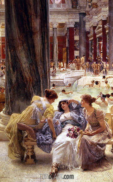 The Baths of Caracalla, 1899 | Alma-Tadema| Painting Reproduction