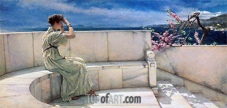 Alma-Tadema | Expectations, 1885