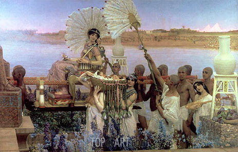 Alma-Tadema | The Finding of Moses, 1904