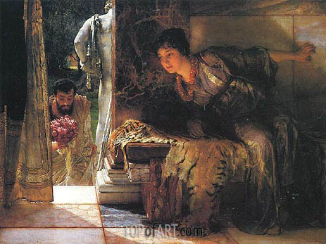 Alma-Tadema | Welcome Footsteps, 1883