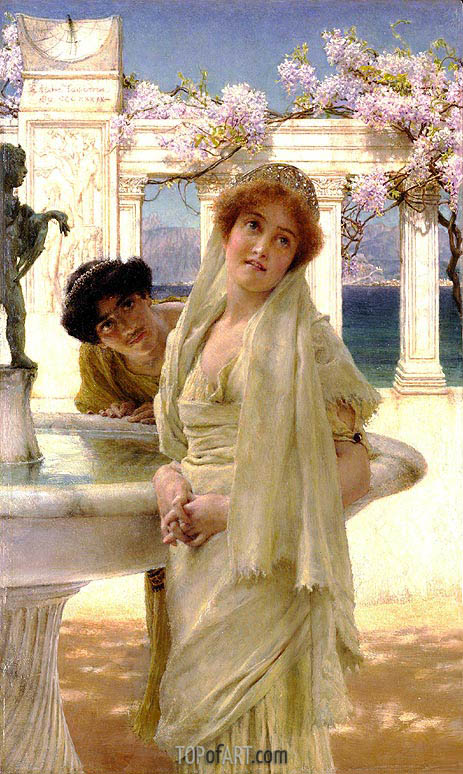 A Difference of Opinion, 1896 | Alma-Tadema| Painting Reproduction