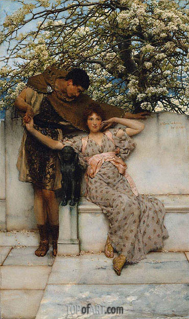 Promise of Spring, 1890 | Alma-Tadema| Painting Reproduction