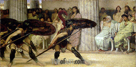 Pyrrhic Dance, 1869 | Alma-Tadema| Painting Reproduction