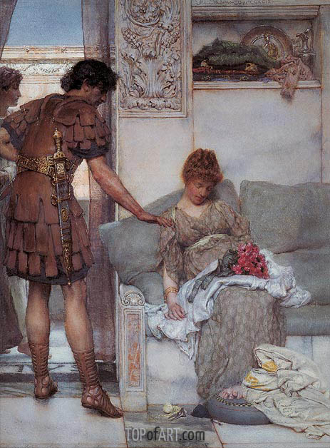 A Silent Greeting, 1889 | Alma-Tadema| Painting Reproduction