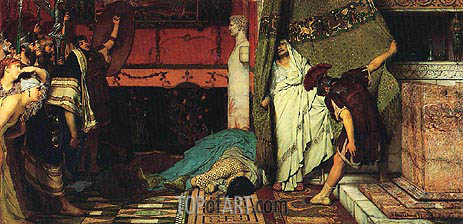 A Roman Emperor AD 41 - Claudius, 1872 | Alma-Tadema | Painting Reproduction