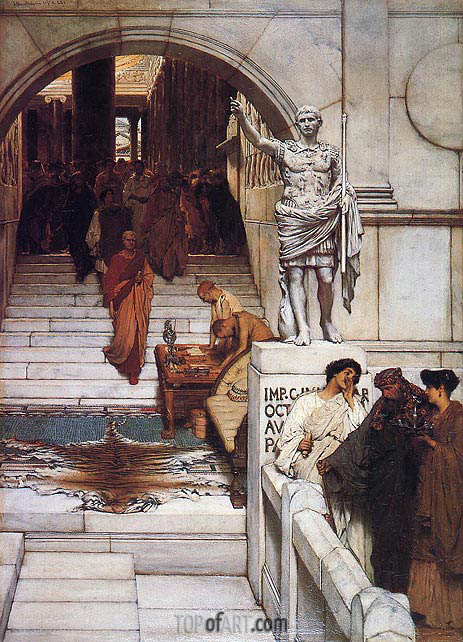 An Audience at Agrippa's, 1875 | Alma-Tadema| Painting Reproduction