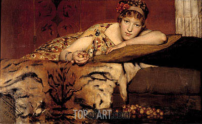 Cherries, 1873 | Alma-Tadema| Painting Reproduction