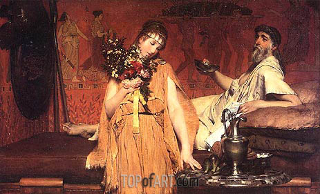 Between Hope and Fear, 1876 | Alma-Tadema| Painting Reproduction