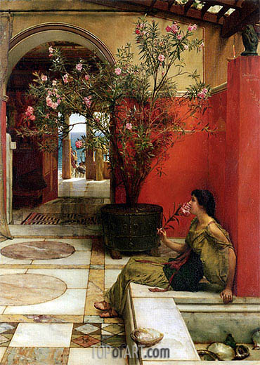 An Oleander, 1882 | Alma-Tadema| Painting Reproduction