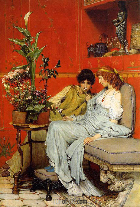 Confidences, 1869 | Alma-Tadema | Painting Reproduction