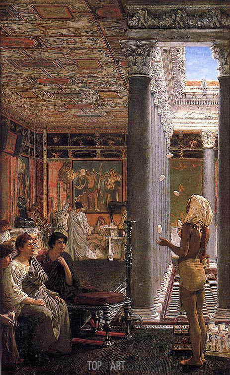 An Egyptian Juggler, 1870 | Alma-Tadema| Painting Reproduction