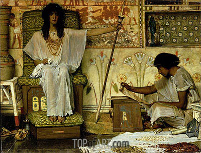 Joseph, Overseer of Pharaoh's Granaries, 1874 | Alma-Tadema | Painting Reproduction