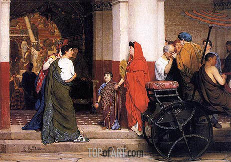Entrance to a Roman Theater, 1866 | Alma-Tadema | Painting Reproduction