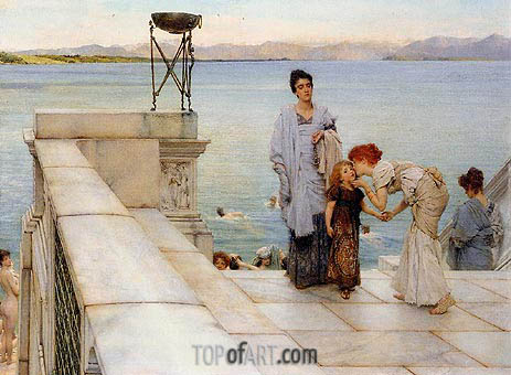 The Kiss, 1891 | Alma-Tadema| Painting Reproduction