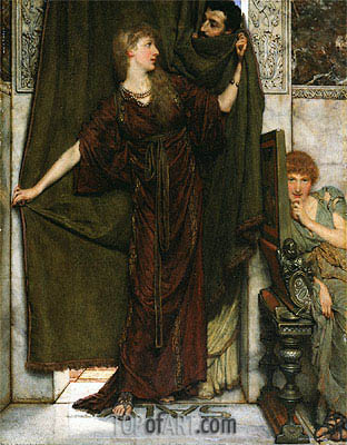 My Sister Is Not In, 1879 | Alma-Tadema | Painting Reproduction