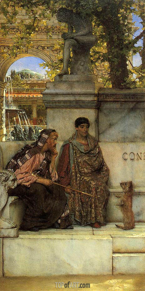 In the Time of Constantine, 1878 | Alma-Tadema| Painting Reproduction