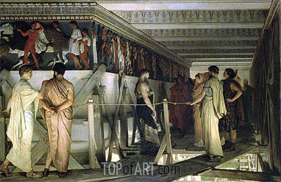 Pheidias and the Frieze of the Parthenon, Athens, 1868 | Alma-Tadema| Painting Reproduction