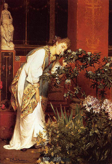 In the Peristyle, 1866 | Alma-Tadema | Painting Reproduction