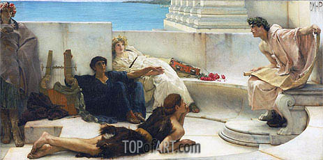 A Reading from Homer, 1885 | Alma-Tadema| Gemälde Reproduktion