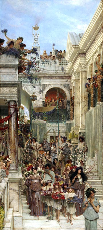 Spring, 1894 | Alma-Tadema| Painting Reproduction