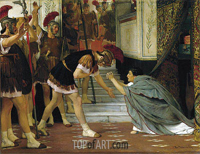 Proclaiming Claudius Emperor, 1867 | Alma-Tadema | Painting Reproduction