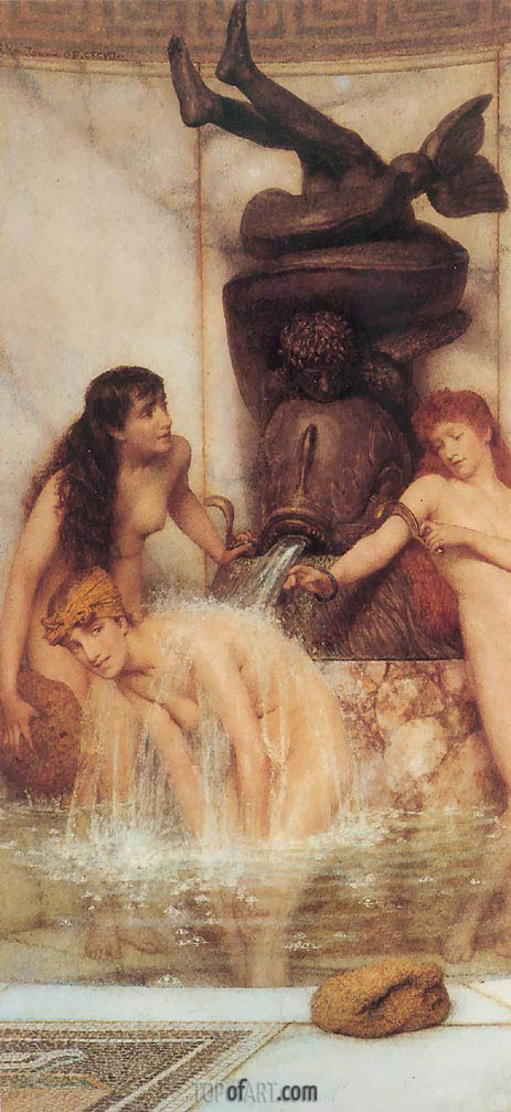 Alma-Tadema | Strigils and Sponges, 1879