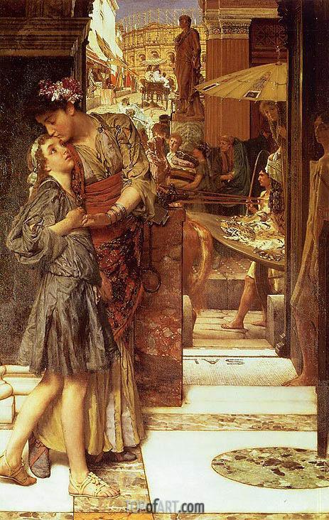 Alma-Tadema | The Parting Kiss, 1882