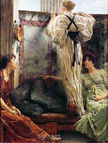 Inquisitive (Who is It), 1884 | Alma-Tadema | Painting Reproduction