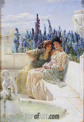 Whispering Noon, 1896 | Alma-Tadema| Painting Reproduction