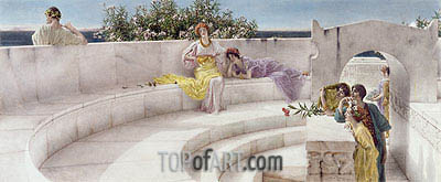 Under the Roof of Blue Ionian Weather, 1901 | Alma-Tadema | Painting Reproduction