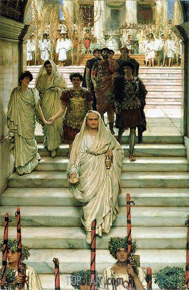 Alma-Tadema | The Triumph of Titus: The Flavians, 1885