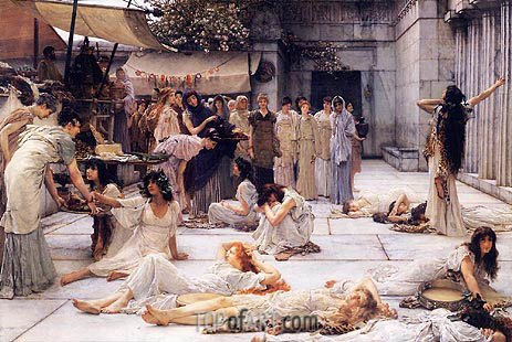 The Women of Amphissa, 1887 | Alma-Tadema | Painting Reproduction