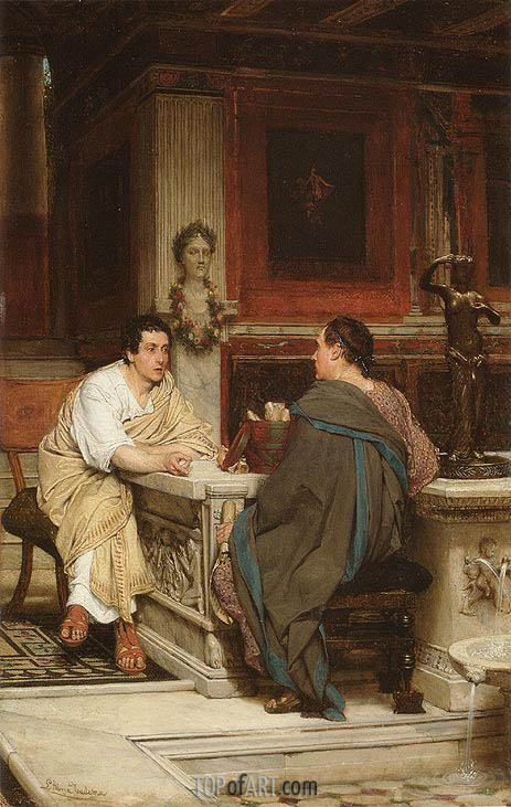 The Discourse, undated | Alma-Tadema | Painting Reproduction