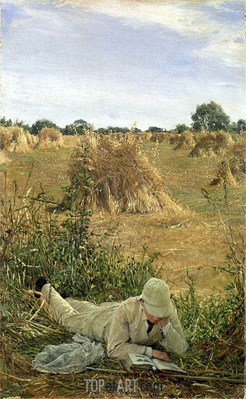 94 Degrees in the Shade, 1876 | Alma-Tadema | Painting Reproduction