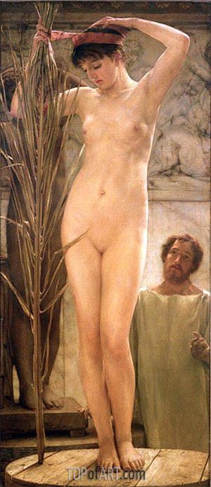 Alma-Tadema | A Sculptor's Model, 1877