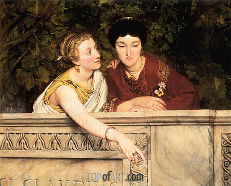 Gallo-Roman Women, 1865 | Alma-Tadema | Painting Reproduction