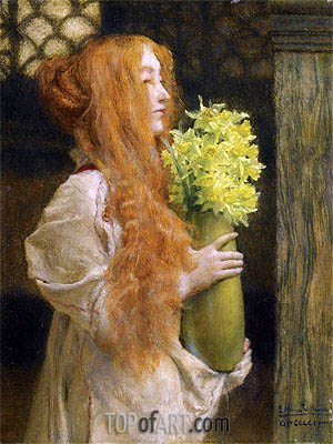 Spring Flowers, 1911 | Alma-Tadema | Painting Reproduction