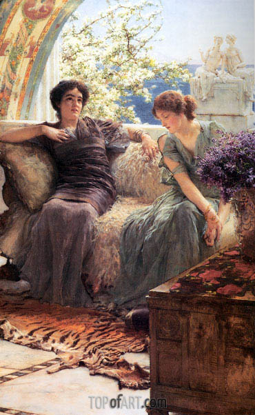 Unwelcome Confidence, 1895 | Alma-Tadema | Painting Reproduction