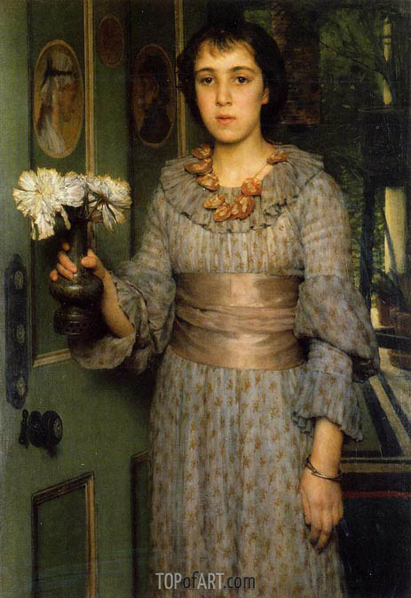 Portrait of Anna Alma-Tadema, 1883 | Alma-Tadema | Painting Reproduction