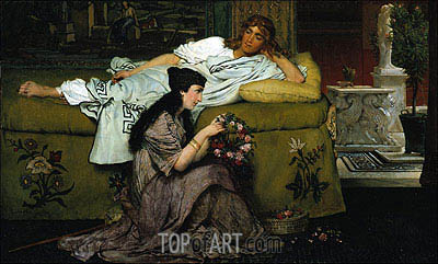 Glaucus and Nydia, 1867 | Alma-Tadema| Painting Reproduction