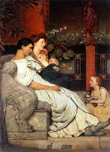A Roman Family, undated | Alma-Tadema | Painting Reproduction