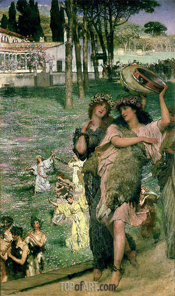 On the Road to the Temple of Ceres: A Spring Festival, 1879 | Alma-Tadema| Gemälde Reproduktion