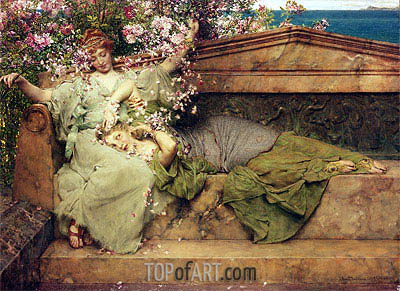 In a Rose Garden, 1889 | Alma-Tadema| Painting Reproduction