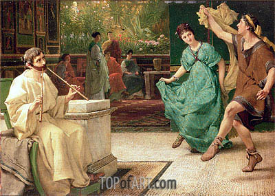 A Roman Dance, undated | Alma-Tadema| Painting Reproduction