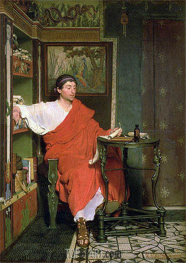 A Roman Scribe, undated | Alma-Tadema | Painting Reproduction